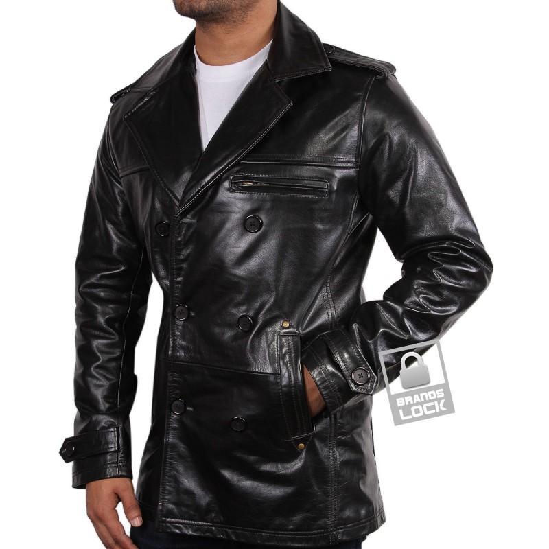 Men S Black Leather Jacket Treasure