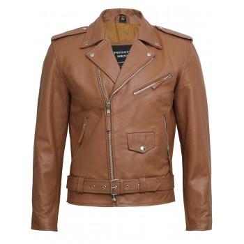 Men's Leather Biker Jacket - Efron