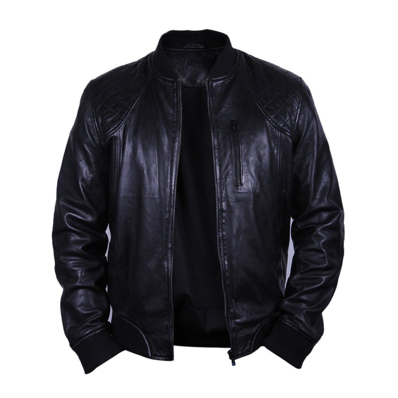 Mens Leather Biker Jacket