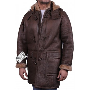 Men's Brown Leather Jacket - Whom