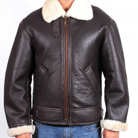 Men's shearling sheepskin jacket - Criss