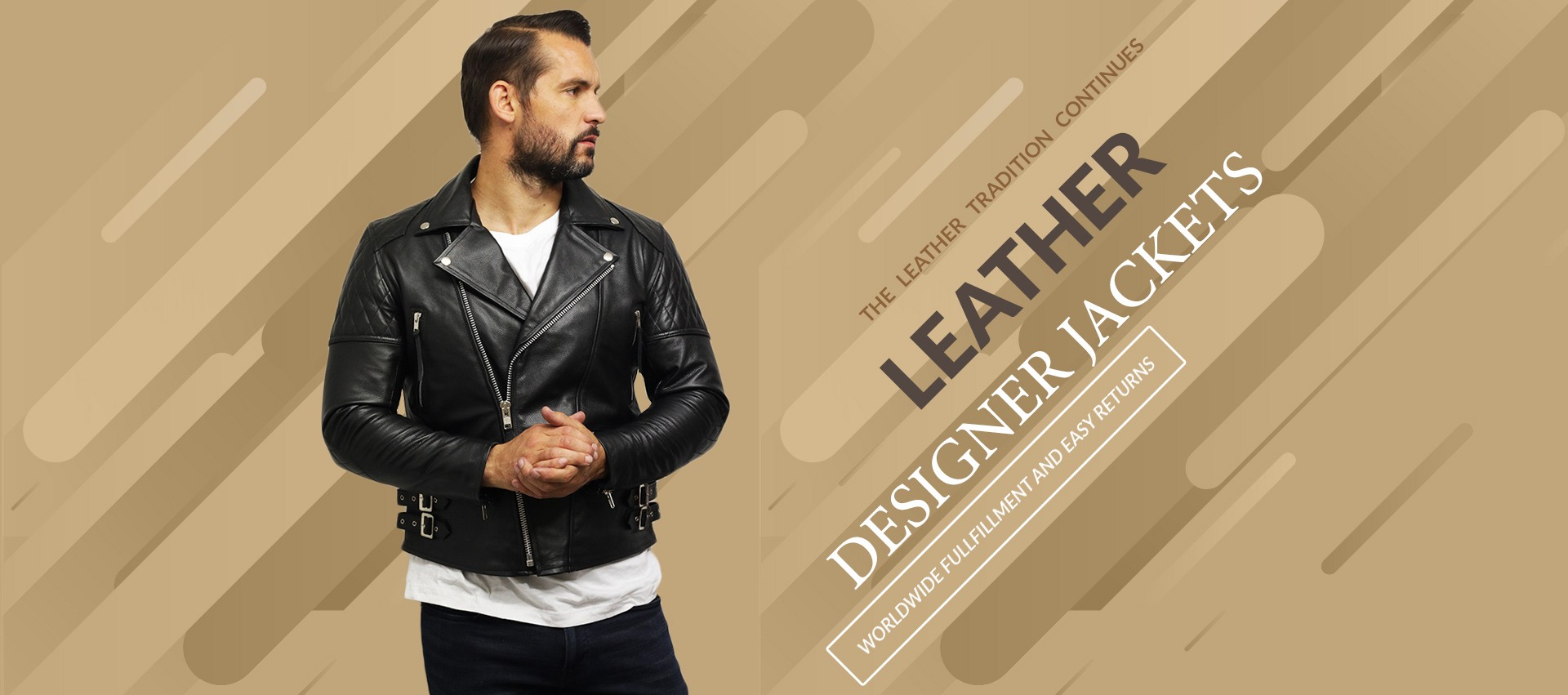 Mens Real Lambskin Brando Jackets